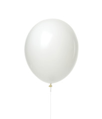 Single huge white balloon object for birthday isolated
