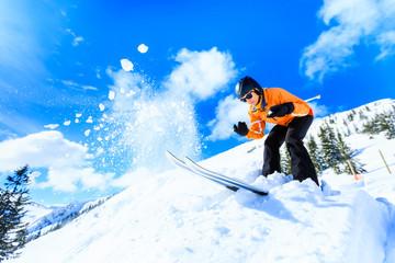 Senior Woman Skiing