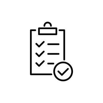 Modern clipboard line icon.