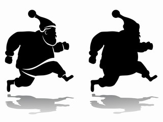 silhouette of santa claus, vector draw