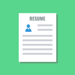 resume, flat design