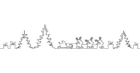 Weihnachten Weihnachtsmann Schlitten