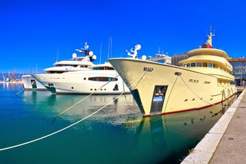 City of Rijeka yachting waterfront panoramic view