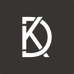 KD or DK logo initial letter design template vector