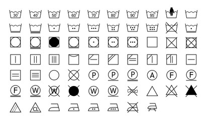 Laundry Symbols, washing instructions