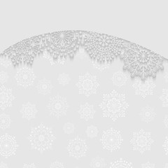Abstract Сhristmas background. Frame of white snowflakes. Vector illustration.