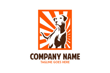 labrador retriever dog logo vector illustration