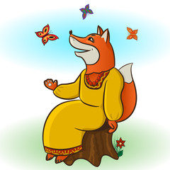 Fox and Butterflies