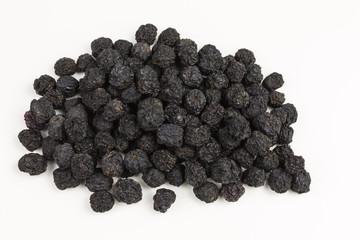 dried black aronia berries - aronia arbutifolia