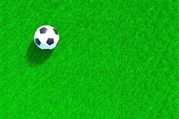 Football green grass meadow background 3d illustration