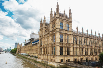 Palace of Westminster and Big Ben on restoration