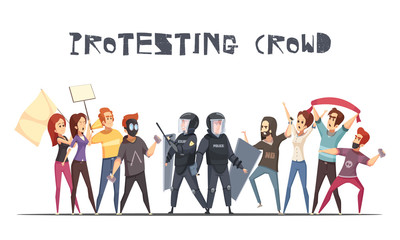 Protesting Crowd Design Concept