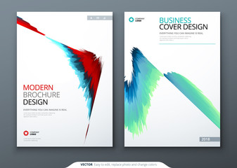 Brochure template layout design. Corporate business annual report, catalog, magazine, flyer mockup. Creative modern bright concept