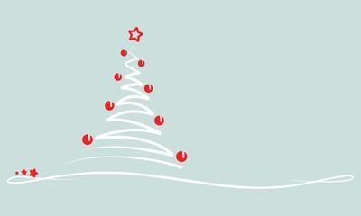 """Weihnachten - Grußkarte """"Abstrakter Weihnachtsbaum"""" (in Grün)"""