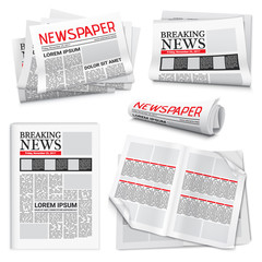 Newspaper Realistic Set