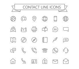 Contact line mini icons. 24x24 grid.  Dashed Line