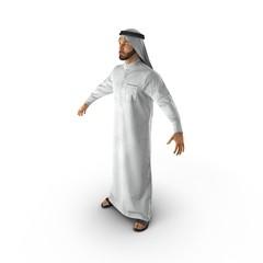 Arab man on white. 3D illustration