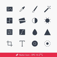 Photography (Image Editing) Related Icons / Vectors Set