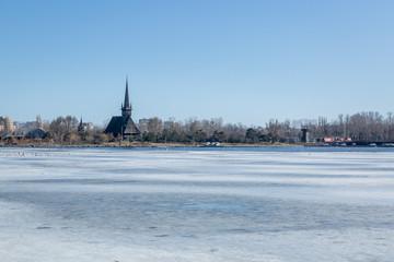 Church on Frozen Lake
