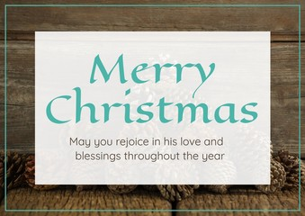 merry Christmas text on Christmas background