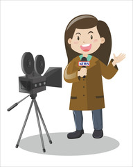 Cartoon of professions-vector drawing-isolated white background