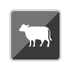 Kuh - Reflektierender App Button
