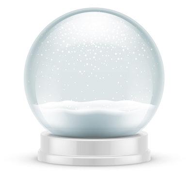 Boule à neige vectorielle 1