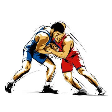 wrestling action 2
