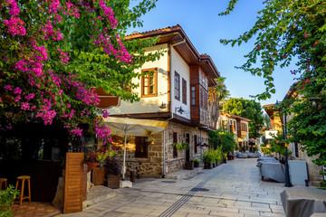 Pedestrian street in Antalya Old Town, Turkey
