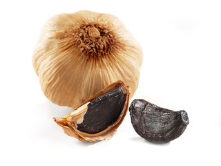 black garlic isolated
