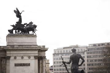 ロンドン風景 ウェリントン像