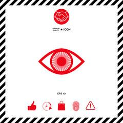 Eye symbol icon with iris