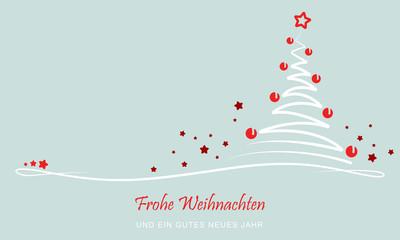 """Grußkarte - """"Abstrakter Weihnachtsbaum"""" (Grün)"""