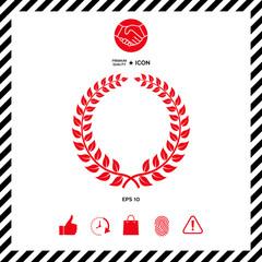 Laurel wreath - design symbol