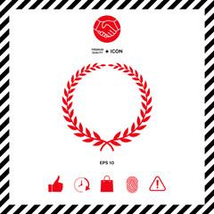 Laurel wreath - elegant symbol
