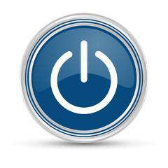 Blauer Button - Powerbutton