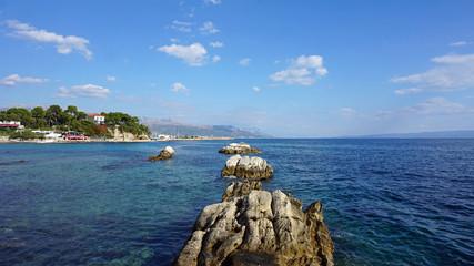 beach promenade in split in croatia