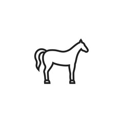 Horse Icon Vector Isolated