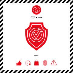 Shield with Check mark icon