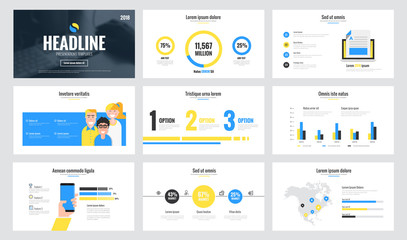 Infographics slide template design 4