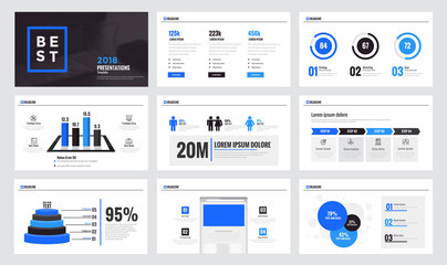 Infographics slide template design 9