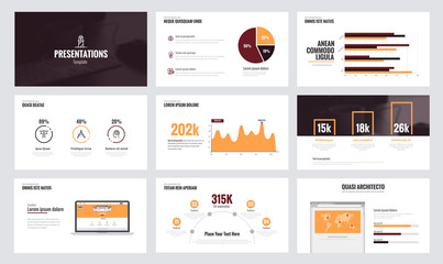 Infographics slide template design 8