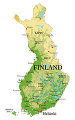 Finland Relief map