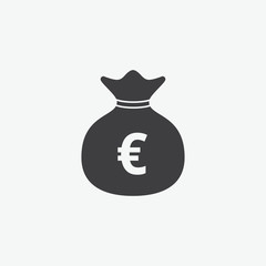 Money Bag Euro Symbol Icon