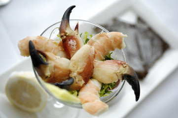 Close Up of a Shrimp and Crab Cocktail