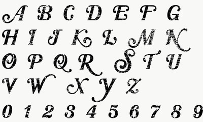 Crack alphabet vector
