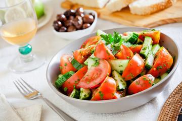 Close Up Of A Refreshing Salad