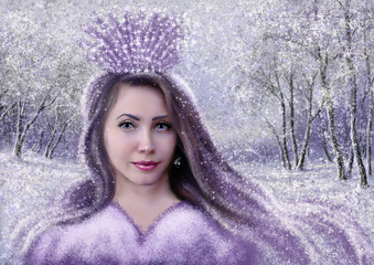 The Snow Queen, paintings, art