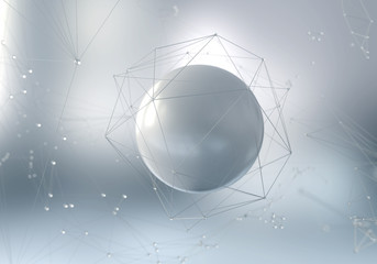 Abstract background of science and technology Wall mural