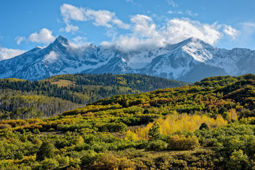 Autumn Clouds in the San Juan Mountains in Colorado.
